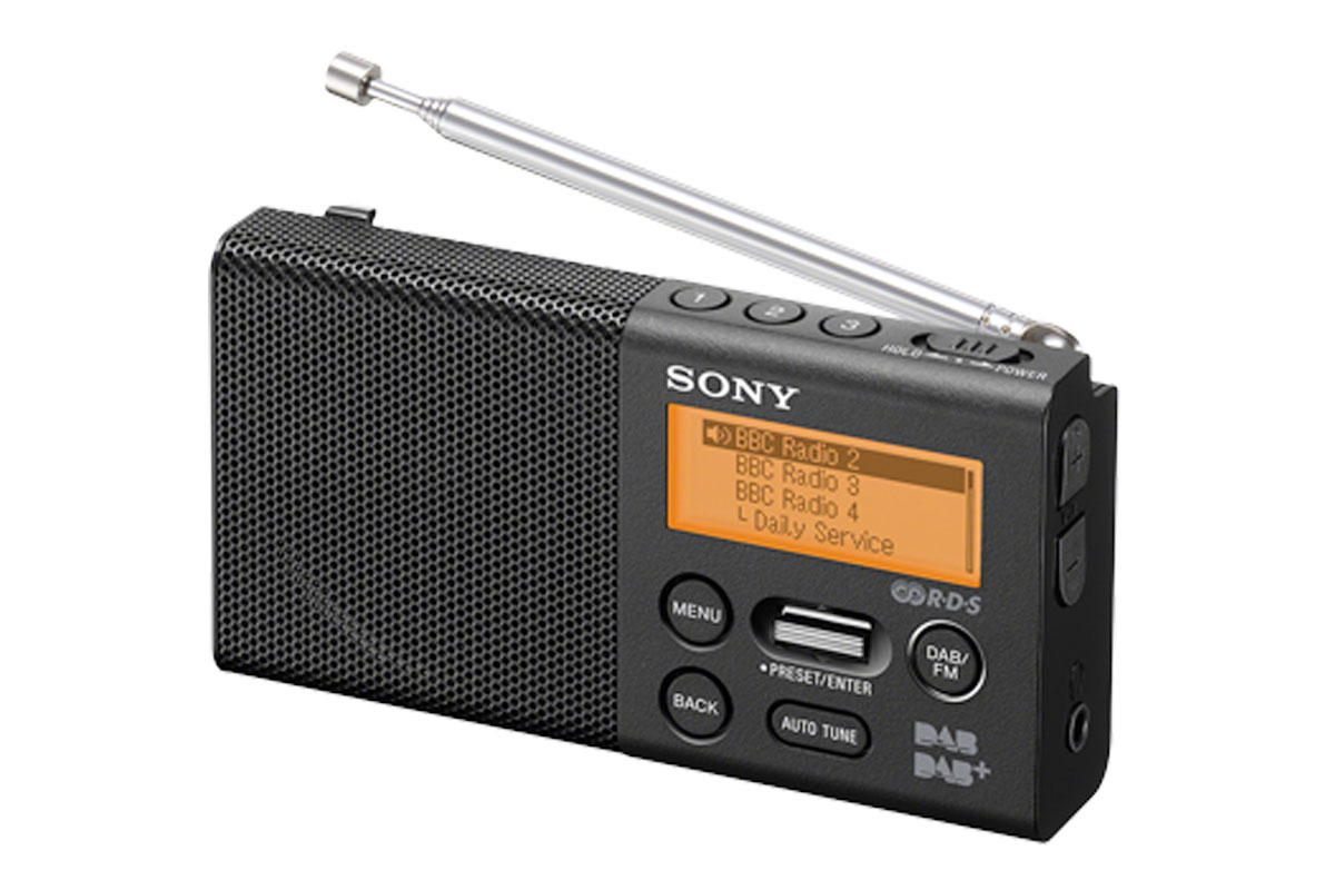 sony xdr p1dbp rechargeable pocket dab radio. Black Bedroom Furniture Sets. Home Design Ideas