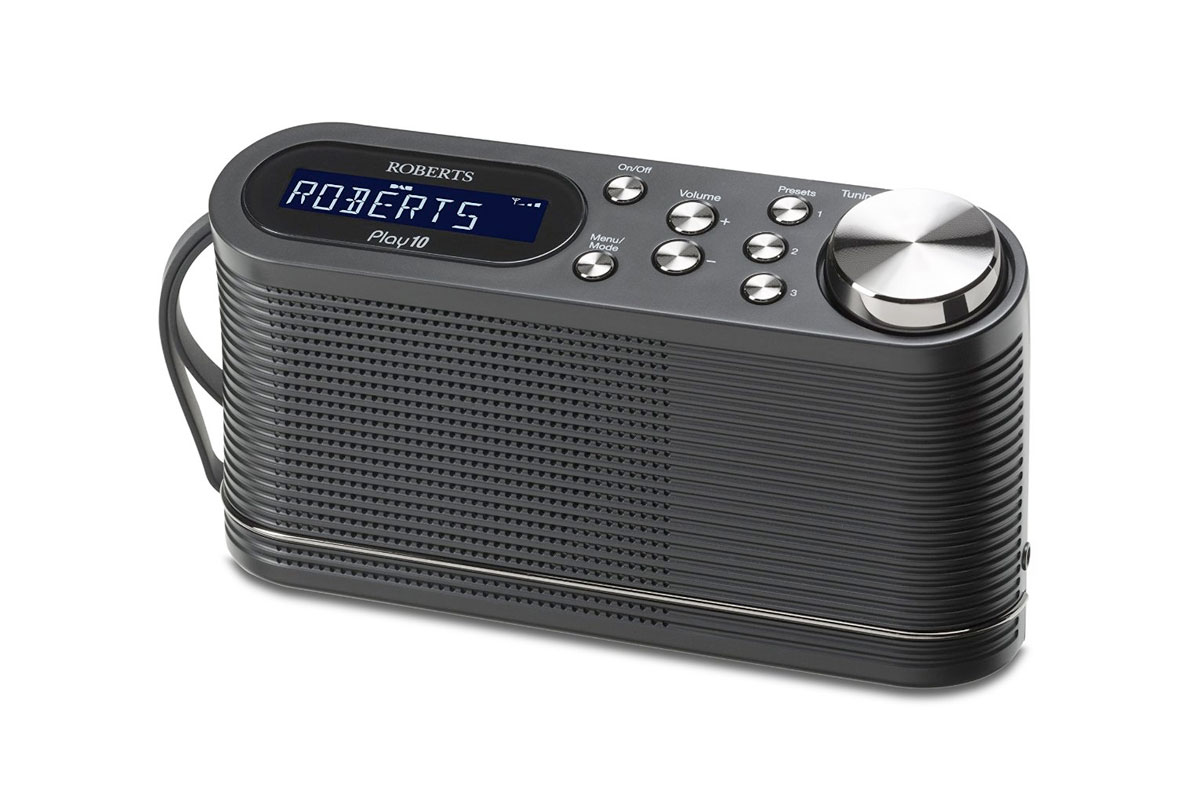 Roberts Radio Play10 DAB/DAB+/FM Digital Radio with Simple Presets - Black