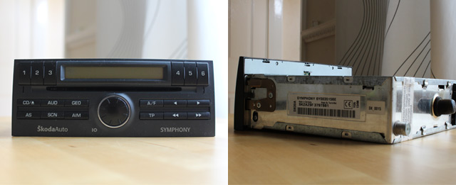 Replacing a factory fit car radio for DAB digital radio
