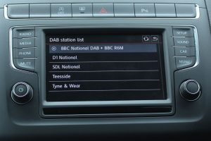 In-car digital radio showing ensembles