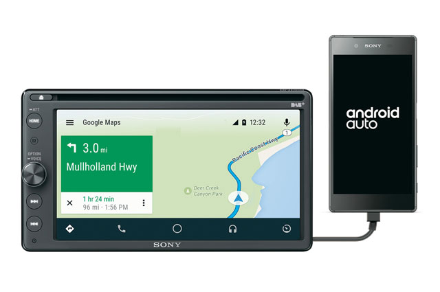 sony reveals in car dab receiver with smartphone integration. Black Bedroom Furniture Sets. Home Design Ideas