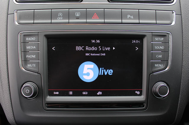 BBC Radio 5 live on a DAB car stereo
