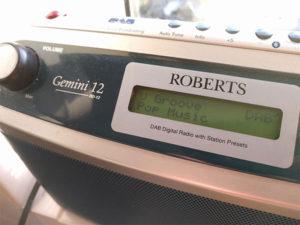 V Groove on DAB radio display