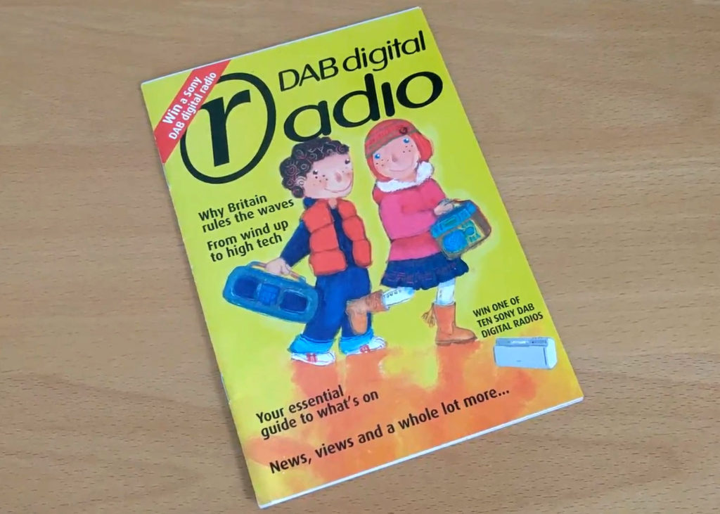 A DAB Digital Radio Booklet from the mid-2000s