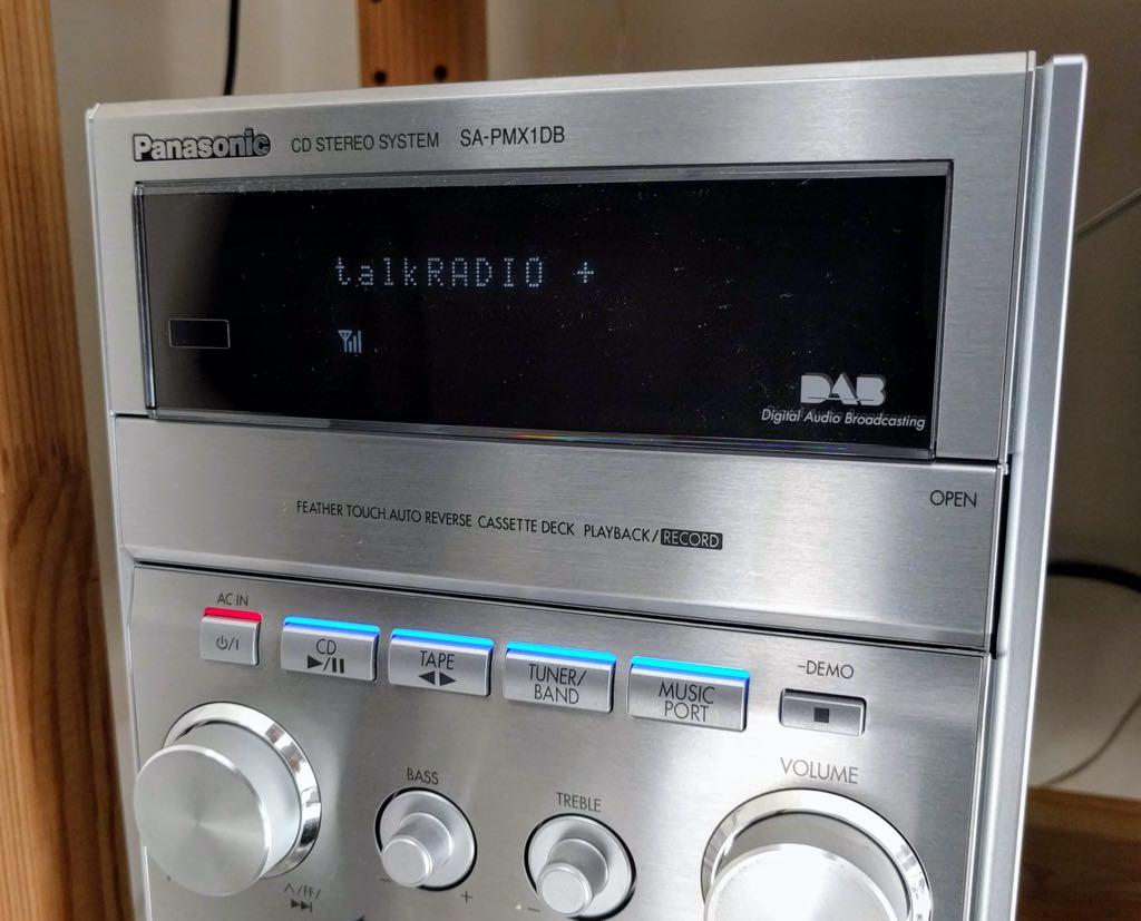 talkRADIO + on a Panasonic HiFi