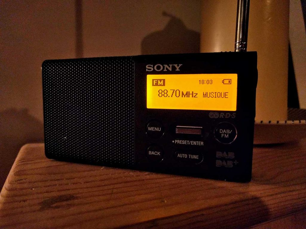 France Musique being received on FM near London
