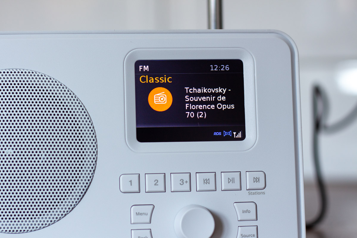 Tuning into Classic FM in the FM mode