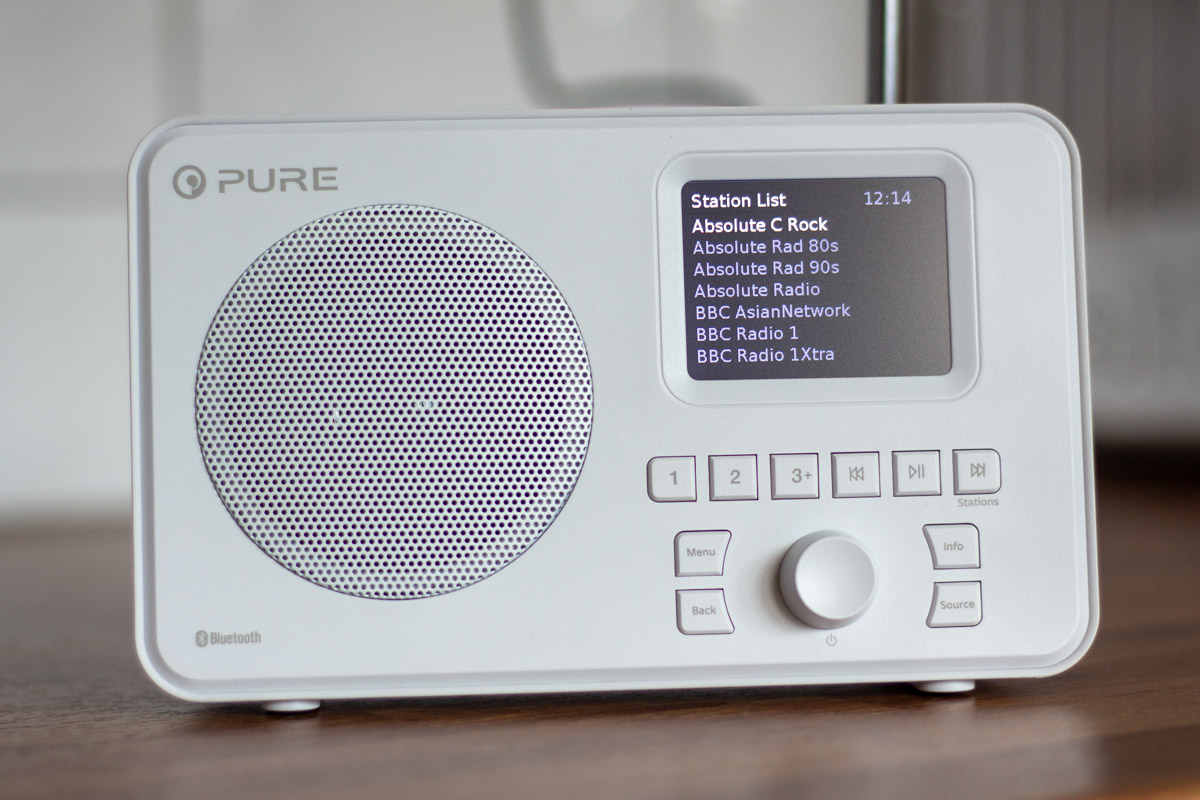 Digital radio station list on the Pure Elan One