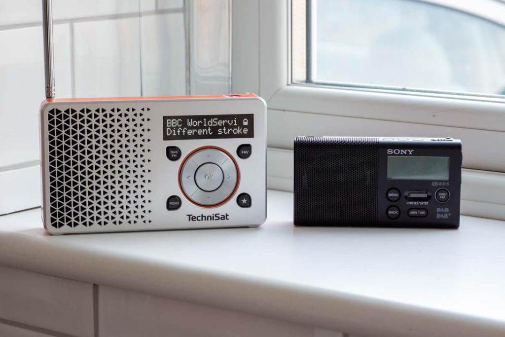The DIGITRADIO 1 is bigger than Sony's smallest portable DAB radio