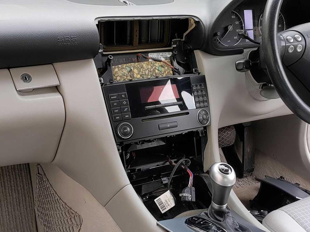 Remove the trim and car radio