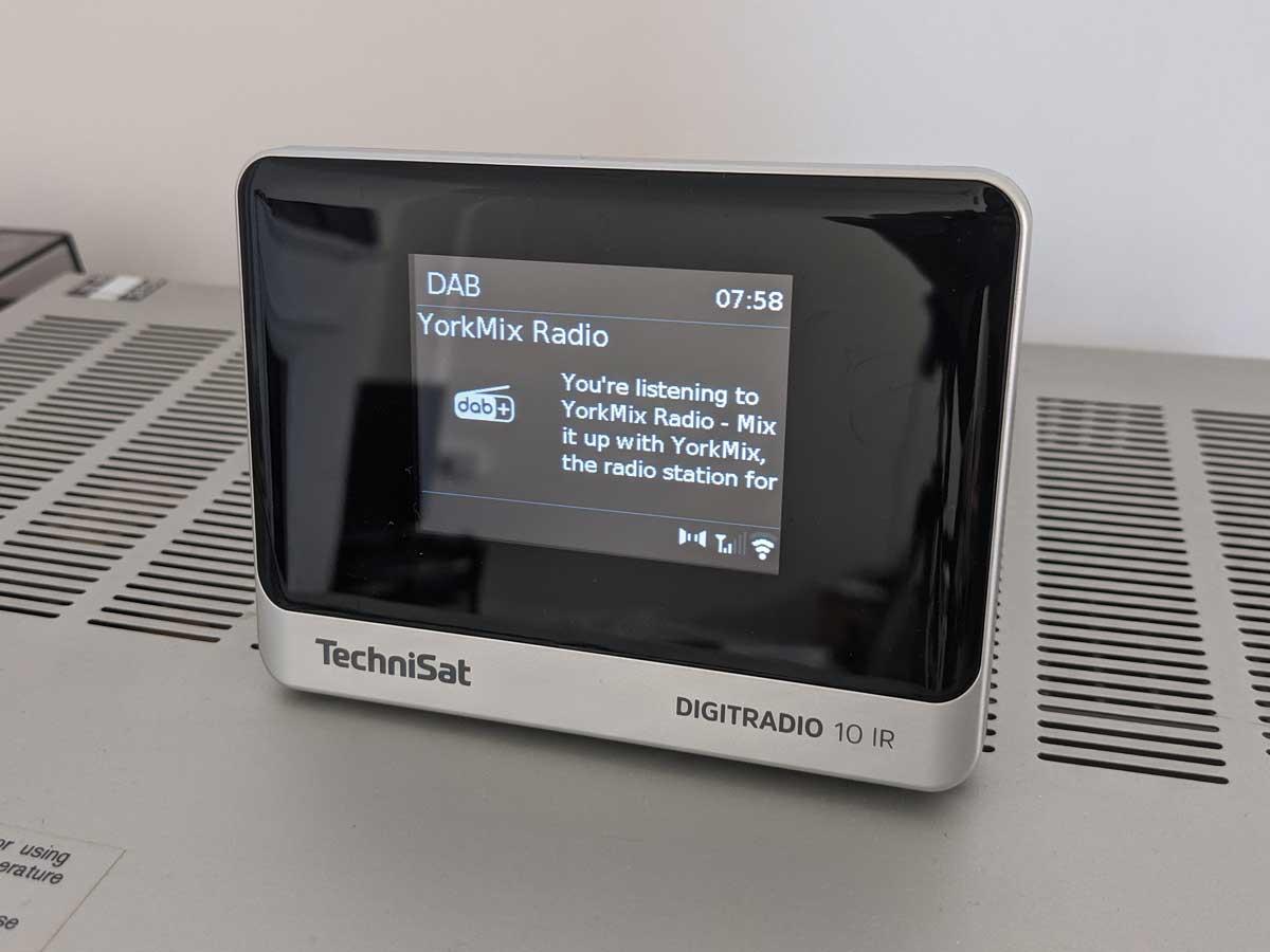 YorkMix Radio on a DAB receiver